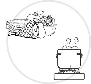 Separe los alimentos crudos de los cocidos